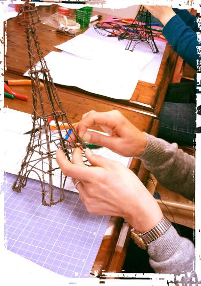 プリシラ工房 カラーワイヤークラフト教室