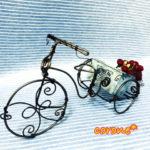【和歌山市】wirecraft工房  corone* 6月の1dayレッスン『ワンストローク三輪車』