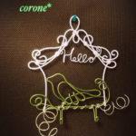 【和歌山市】wirecraft工房 corone* 6月の1dayレッスン『バードスタンドフック』